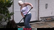 Busty fatty is picked up on the street video