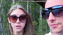 Young Couple Walking In The Woods Fucked