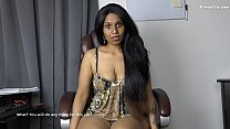 Sexy Indian Boss blackmails role play in Hindi English image