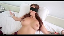 BLINDFOLD MOM THOUGHT IT WAS DADs DICK's Thumb