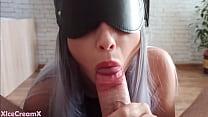 Slutty Girl Sucks Cock And Swallows Cum