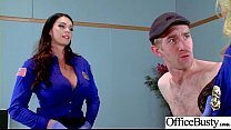 Round Big Tits Girl (Alison Tyler & Julia Ann) Get Banged In Office clip-04