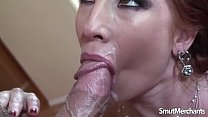 MILF pornstar fucks and facial thumb