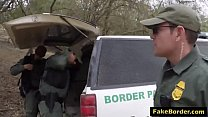Slutty Latina babe fucked by fake border patrol agent thumbnail