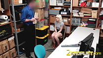 PETITE tattooed blonde NAOMI NASH slammed by UNIFORMED dude