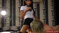 Ladyboy Best Gives Blowjob Before Ass Fucking