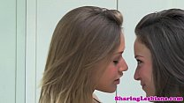 Lingerie lesbian babes eat out together thumbnail