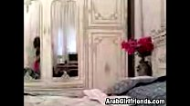 Arab girlfriend making out with her man in bed