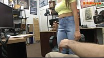 Perky tits babe banged by nasty pawn guy video