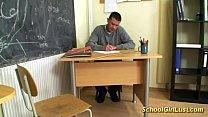 young schoolgirl fucks her teacher