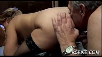 Gorgeous hooker gives hot oral-sex and spreads ... thumb