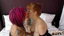 Image: Penny Pax & Anna Bell Peaks Amazing Bodystocking 3some!
