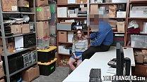 Loss Prevention Officer Fucks Blonde Rebellious Teen Thief