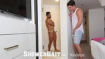 ShowerBait Str8 guy convinced into shower fuck