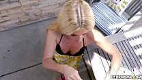Sexy milf India Summer gobbles her stepsons man meat! thumbnail