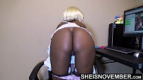 11830 My Boss Wanted To Eat My Ass After He Took Me Shopping, I Feed His Old Ass My Ebony Bootyhole, Filling Up My Ebony Ass With His Tongue, And Flashing My Booty At The Mall Msnovember Reality on Sheisnovember preview