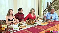 Moms Bang Teen - Naughty Family Thanksgiving Thumbnail