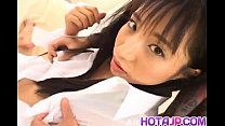 Momo Junna gets fingers tongue and phallus in h...