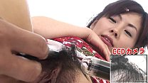 Subtitled bottomless Japanese pubic hair shaving in HD