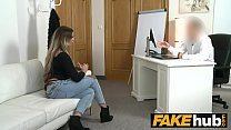 Fake Agent German girl with tattoos and natural body on casting couch preview image