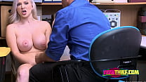 BUSTY rebel blonde POUNDED hardcore by bossy GUARD thumbnail