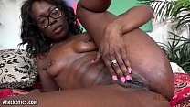 Bella Dahl takes all of large dildo