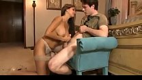 HotWifeRio TANNED MOTHER CATCHES SON JERKING MORE - VideoMakeLove.Com