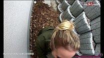 MyDirtyHobby - Adventurous blonde teen risky public creampie preview image