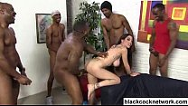 Interracial creampie with 7 black cocks porn thumbnail