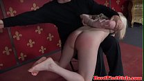 Tiedup submissive spanked and flogged roughly video