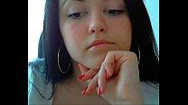 British horny teen masturbates and cum on webcam Thumbnail