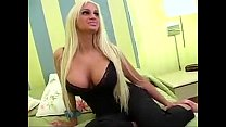 BJ Awesome Platinum Silicone tits hottest blond  | View more videos on likefucker.com
