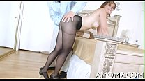 Enjoyable mom in a thrilling act