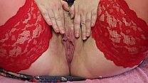 Mature Hairy Pussy With A Wet Hole Close Up  Mi