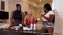 Kenzie Reeves, Jayden Starr & Victoria Cakes Interracial Lesbian Sex