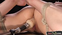 BDSM machine babe gets throatfucked preview image