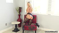 Solo blonde mature, Katie Morgan is eagerly masturbating in 4K's Thumb
