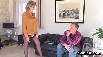 Unfaithful british milf gill ellis unveils her big boobies