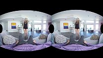 Blonde harlot Arya Fae has valentine anal with you in VR