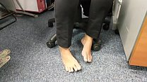 Candid Feet Amazing Barefoot in Work Part 1- www.prettyfeetvideo.com