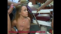 Gangbang in a Barber Shop