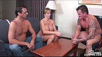 strip poker winner gets handjob from Amber Lynn Bach video