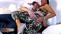 pronky.com & Huge tits latina bitch fucked on couch and having orgasms thumbnail