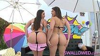 SWALLOWED Abella Danger and Karlee Grey blowing and gagging thumbnail