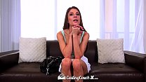 CastingCouch-X - Hot brunette Dillion Carter first time on camera
