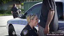 Lesbian police officers turning the situation into arousing one video