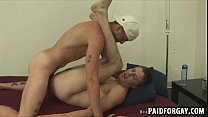 Straight dude getting fucked anally for some cash