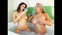 Prime Cups 100% tit girls with wet lez breast play action