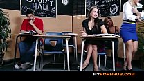 BRAZZERS - STUNNING BRUNETTE SCHOOLGIRL SEDUCES HER HOT BLONDE CLASSMATE View more videos on befucker.com