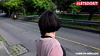 LETSDOEIT - Petite Colombian Teen Picked Up On The Side of The Street thumbnail